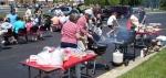 Customers enjoying the lunch buffet