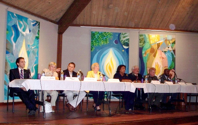 Eight of Nine Candidates debated on 09/09/09