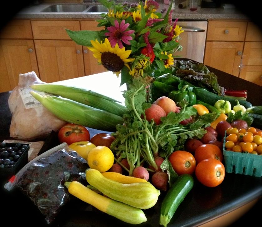 Bounty of a Tuesday morning Farmers' Market