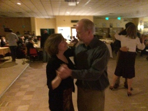 Friends Doug and Wendy enjoying a dance!