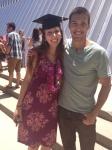 Alex and friend B.J. after Graduation
