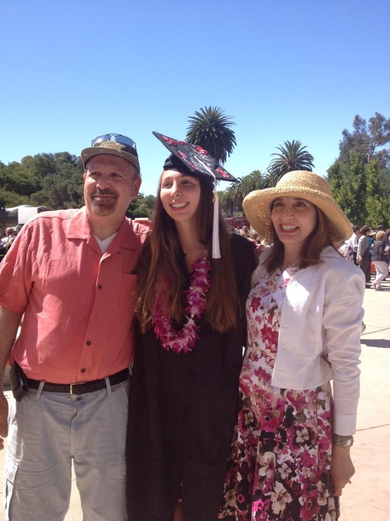 Three at graduation