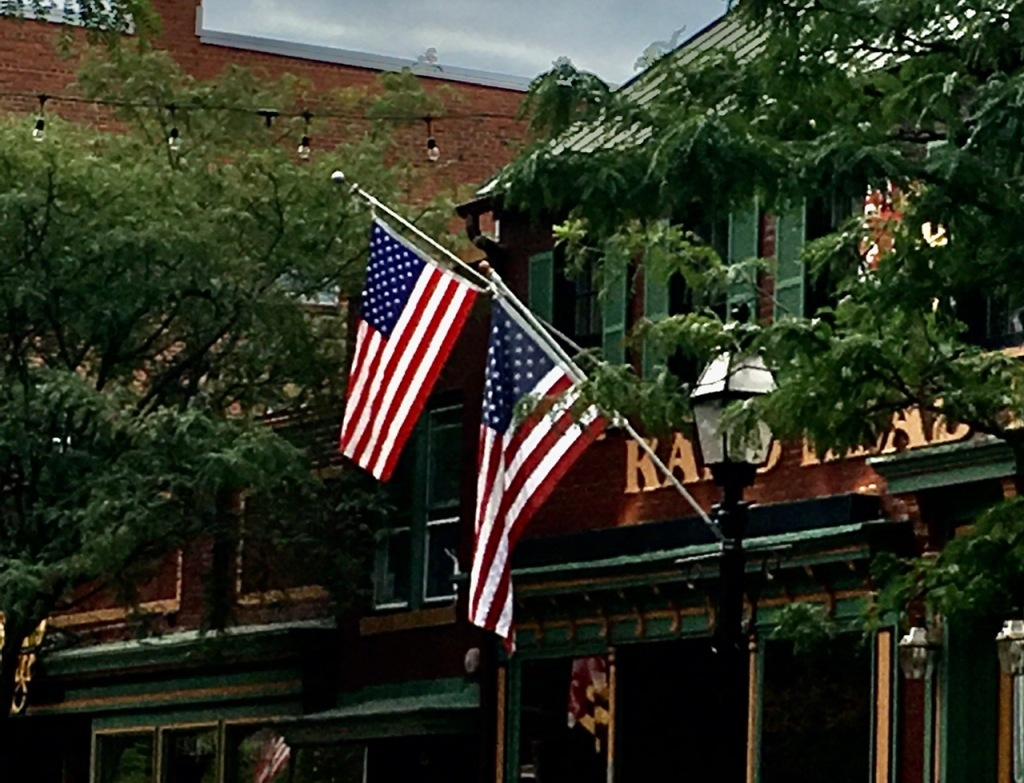 Two American Flags symbolize two American Points of View.